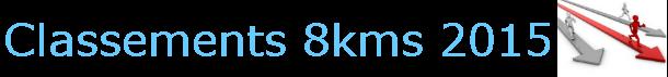 classement 8kms